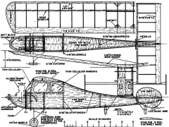 Bambi-Powered FF model airplane plan
